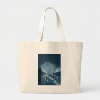 old man winter holiday canvas bag