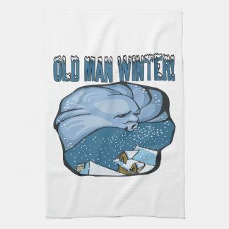 Old Man Winter Tea Towel
