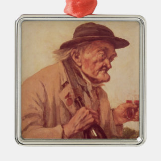 Old Man with a glass of wine Christmas Ornament