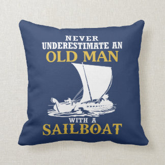 Old Man With A Sailboat Cushion