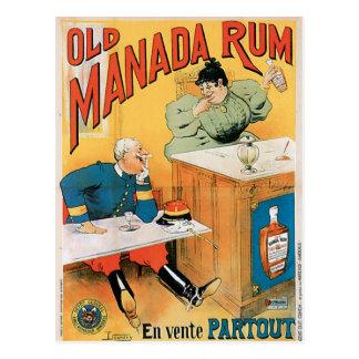 Old Manada Rum Vintage Drink Ad Art Post Cards
