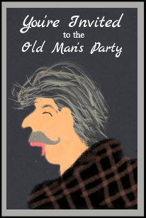 Old Mans Birthday Party Invitation