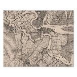 Old Map, Altamaha River, Georgia, USA - Brown