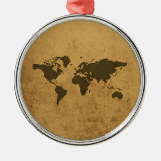 Old Map Christmas Ornament