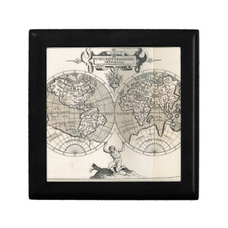 Old map gift box