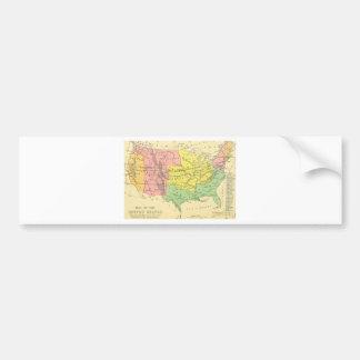 Old map of America Bumper Sticker