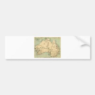 Old map of Australia Bumper Sticker