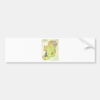 Old map of Ireland Bumper Sticker