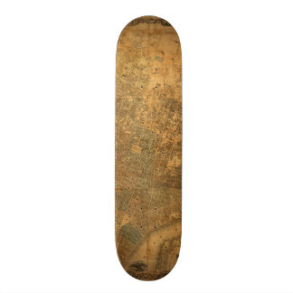 Old Map of New York City in 1852 Skateboard