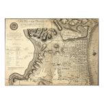 Old Map of Philadelphia Pennsylvania from 1796 Custom Announcements
