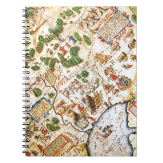Old Map of Russia Spiral Note Books