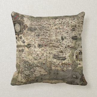 Old Map of Southern England Throw Pillow