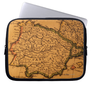 Old map of Spain Laptop Sleeve