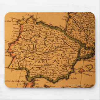 Old map of Spain Mouse Mat