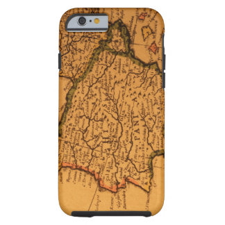 Old map of Spain Tough iPhone 6 Case