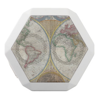 Old Map of the World White Boombot Rex Bluetooth Speaker
