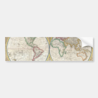 Old Map of the World Bumper Sticker