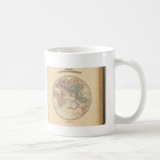 Old map of the world coffee mug