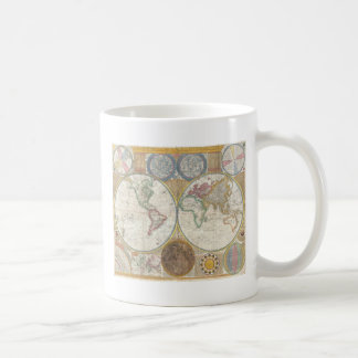 Old Map of the World Coffee Mugs