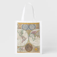 Old world map bags handbags zazzle old map of the world reusable bags gumiabroncs Image collections