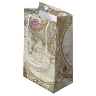 Old Map of the World Small Gift Bag