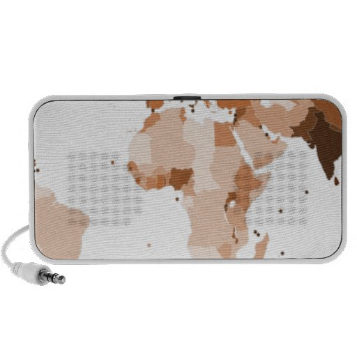 Old map of the world travelling speaker