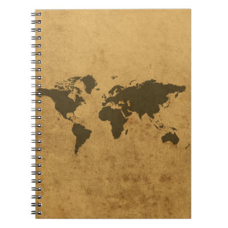 Old Map Spiral Notebook