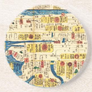 Old map Tokai Beverage Coaster