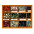 old marbles in boxes postcard