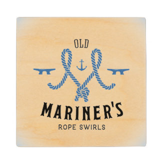 Old Mariner Poster Maple Wood Coaster
