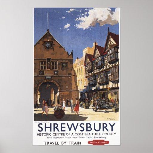 Old Market Hall View British Railways Poster
