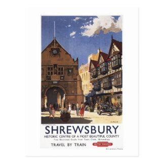 Old Market Hall View British Railways Poster Postcard