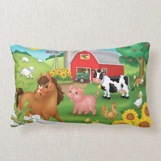 Old McDonald's Farm Lumbar Pillow