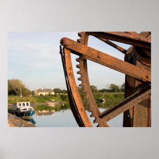 old mechanical crane on Salleen pier Print