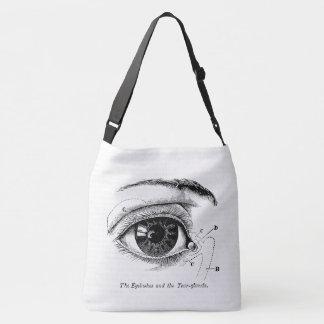 Old Medical Drawing The Human Eye Crossbody Bag