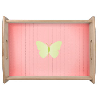 Old_MEMORIES_Moth Butterfly-Wood-Wainscoting_ Serving Tray