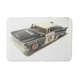 Old Metal Police Car Bath Mat Bath Mats
