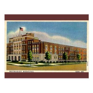 Old Methodist Hospital in Gary, Indiana Postcard