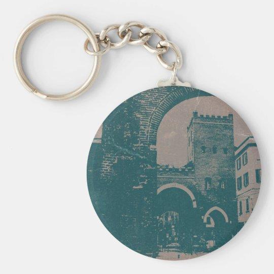 Old Milan Basic Round Button Key Ring