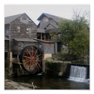Old Mill at Pigeon Forge TN Poster