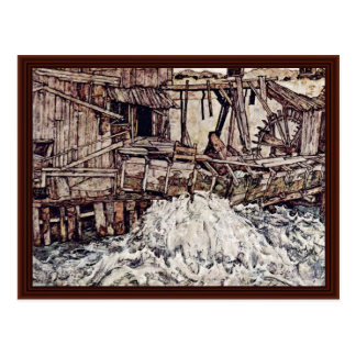 Old Mill By Schiele Egon Postcard