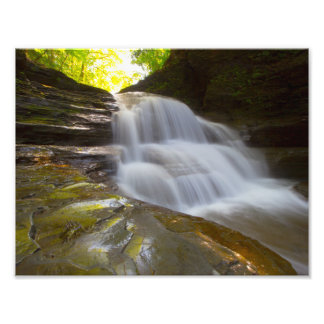 Old Mill Falls, Robert Treman state park, NY Photographic Print