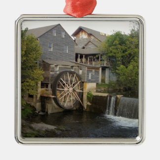 Old Mill Silver-Colored Square Decoration