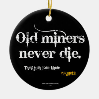 Old Miners Nuggets Round Ceramic Decoration