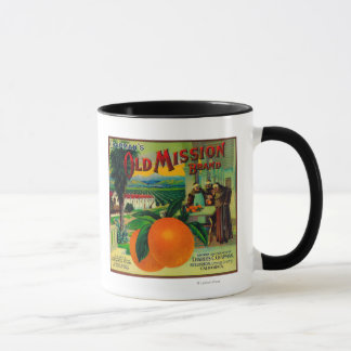 Old Mission Orange LabelFullerton, CA Mug