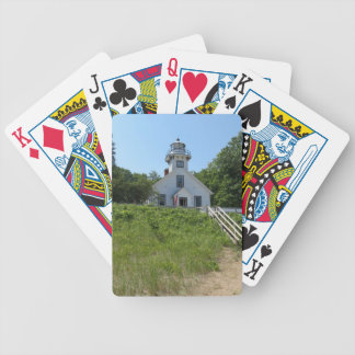 Old Mission Point Lighthouse Bicycle Playing Cards