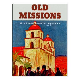 Old Missions Santa Barbara Postcard