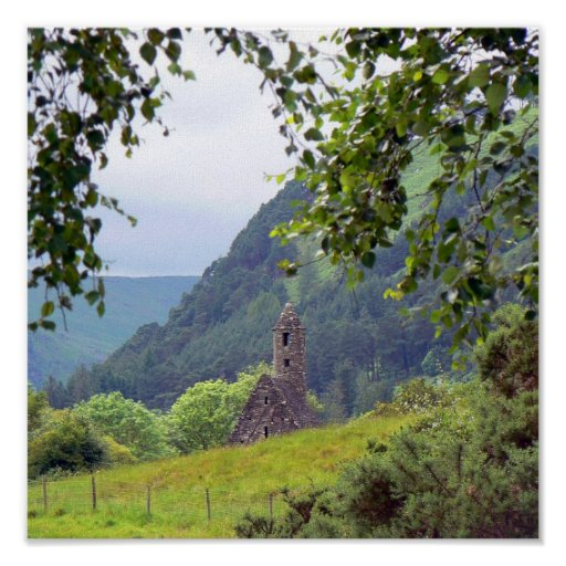 Old Monastery in Ireland Poster