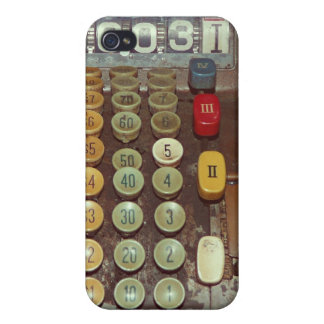 Old Money - Antique Cash Register Machine Covers For iPhone 4