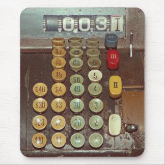 Old Money Counter - Antique Cash Register Mouse Mat
